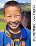 Mongolian Boy With A Beautiful...