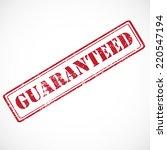 """guaranteed""   vector rubber... | Shutterstock .eps vector #220547194"
