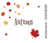 orange red yellow autumn birck... | Shutterstock . vector #220548385