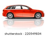 red 3d car | Shutterstock . vector #220549834