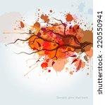 watercolor autumn tree... | Shutterstock .eps vector #220550941