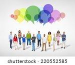 social gathering  | Shutterstock . vector #220552585