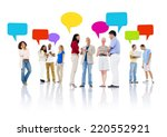 mullti ethnic group of people... | Shutterstock . vector #220552921