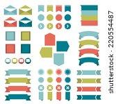 infographic set of flat...