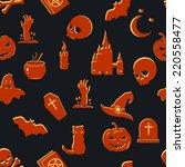vector seamless halloween...   Shutterstock .eps vector #220558477