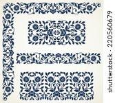 set of floral elements for... | Shutterstock .eps vector #220560679