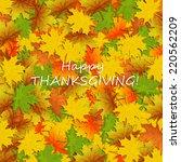 thanksgiving card  | Shutterstock .eps vector #220562209