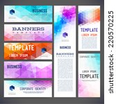 eight abstract design banners... | Shutterstock .eps vector #220570225