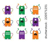 silly monsters vector clip art...