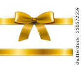 golden bow with gradient mesh ... | Shutterstock .eps vector #220572559