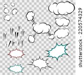 make your own explosion clouds... | Shutterstock . vector #220574329