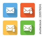 flat email icons. vector...