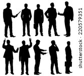 business man silhouettes....