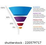 3d funnel | Shutterstock .eps vector #220579717