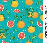 orange or grapefruit with...   Shutterstock .eps vector #220582321