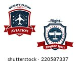 airplane tours and aviation... | Shutterstock .eps vector #220587337
