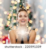 people  holidays and magic... | Shutterstock . vector #220591339