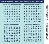 400 business  office  holidyas  ... | Shutterstock .eps vector #220598281