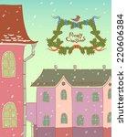 merry christmas illustration.... | Shutterstock .eps vector #220606384