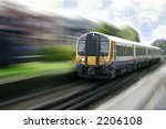very fast moving express train... | Shutterstock . vector #2206108