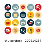 flat icons set 20   sales and...