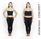 weight loss. photo of the girl... | Shutterstock . vector #220615057