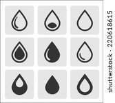 drops icon | Shutterstock .eps vector #220618615