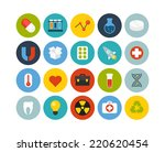 flat icons set 15   science and ... | Shutterstock . vector #220620454