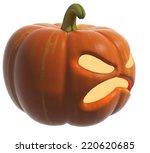 scary jack o lantern halloween...   Shutterstock . vector #220620685