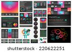 ui flat design web elements and ... | Shutterstock .eps vector #220622251