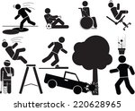 accident icon set.   Shutterstock .eps vector #220628965
