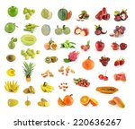 collection of fruit isolated on ...   Shutterstock . vector #220636267