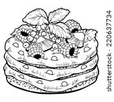 coloring book  cake  | Shutterstock .eps vector #220637734