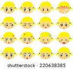smiley set blond | Shutterstock .eps vector #220638385