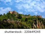 the castle in alanya built on... | Shutterstock . vector #220649245