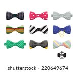 bow ties set  | Shutterstock .eps vector #220649674