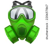 illustration of green gas mask... | Shutterstock . vector #220657867