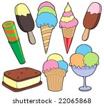 ice cream collection   vector...   Shutterstock .eps vector #22065868