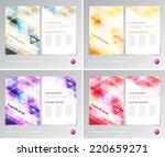 vector flyer design templates... | Shutterstock .eps vector #220659271