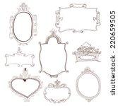 set of decorative vintage...   Shutterstock .eps vector #220659505
