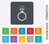ring sign icon. jewelry with... | Shutterstock .eps vector #220669141
