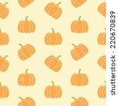 pumpkins seamless pattern.... | Shutterstock .eps vector #220670839