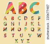 retro colors abc | Shutterstock .eps vector #220677487
