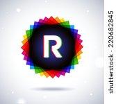 spectrum logo icon. letter r | Shutterstock .eps vector #220682845