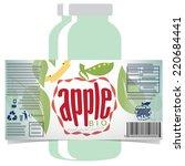 apple juice product label  | Shutterstock .eps vector #220684441