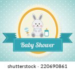 baby shower graphic design  ... | Shutterstock .eps vector #220690861