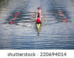 rowers in eight oar rowing...