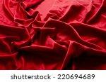 valentines red silk fabric... | Shutterstock . vector #220694689