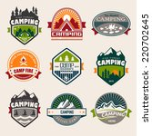 set of mountain adventure and... | Shutterstock .eps vector #220702645
