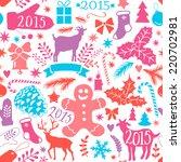 merry christmas seamless... | Shutterstock .eps vector #220702981